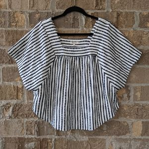 Madewell Butterfly Top in Isley Stripe Large Blue
